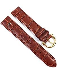 Maurice Lacroix Louisiana Optik Ersatzband Uhrenarmband Kalbsleder braun 21607G, Stegbreite:18mm
