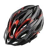 Fahrrad Helm Honeycomb Typ 21Löcher Mountain Bike Racing breezier Helm Unisex Sicherheit Schutz Carbon mit Visier Rot Farbe GRATIS Größe Breather Haltbarkeit Komfortable Cool