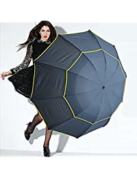 edear 152,4cm Extra großer Regenschirm Winddicht Golf Regenschirm Kompakt Leicht Double Canopy Reisen Länge 30cm faltbar tragbar mit 10Rippen