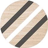 Cuadros Lifestyle 2D-Wandobjekt aus Holz | Streifen | Schwarz | Weiß | Wandteller | Holzbild | Shabby-Look | Landhaus | Vintage | Holzobjekt | Deko | Holzdruck | Geschenk, Größe:ca. 40x40cm