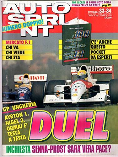 Autosprint Auto Sprint 33 34 Agosto 1991 Senna, Toyota Gr A, Arrivabene, CON POCKET