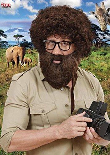 Braun Explorer buschigen Fancy Dress falschen Bart (Buschigen Bart Kostüm)