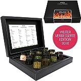 Hallingers Mix Gewürz Essig Öl - Grill Dich glücklich, 12 x Miniglas in DesignKarton, 1er Pack (1 x 270 g)