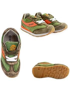 Canguro Zapatillas de Piel Para Niño Verde Verde 25 EU