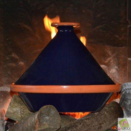 Tajine Spécial Feu Bleu Nuit - D 31 cm