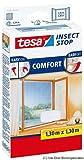 tesa Insect Stop COMFORT Fliegengitter für Fenster / Zuschneidbares Moskitonetz mit Klettband zum Kleben / 130 cm x 130 cm