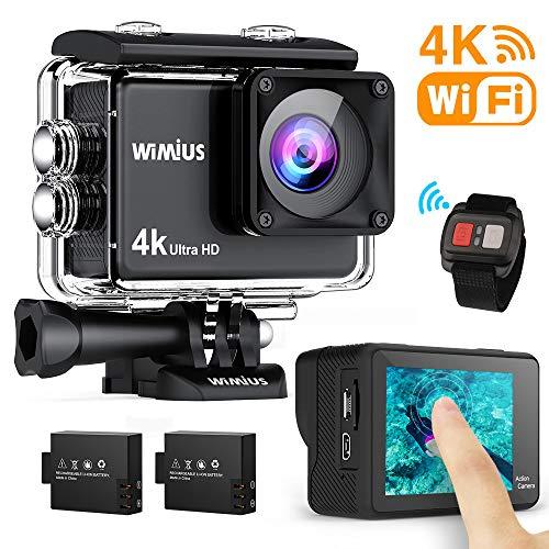 WiMiUS AI8000 Action Cam 4K WIFI HD 16MP Touch Screen Impermeabile Fotocamera 30M Videocamera Sportiva 170 Gradi grandangolare con telecomando e Kit