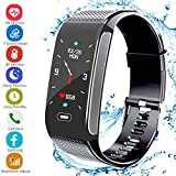 Fitness Tracker Activity Sports Watch with Pedometer Heart Rate Monitor Multi Sports Mode Step Calorie Distance Count IP67 Waterproof Call SMS SNS Remind for Men Women Kids Compatible with Android IOS