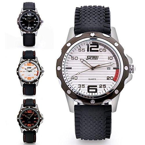 pedgeo (TM) NEU Hohe Qualität Fashion Marke Silikon Herren Armbanduhr Kleid Uhr für Herren Analog Sport Armbanduhr wasserabweisend (Grils Kleider)
