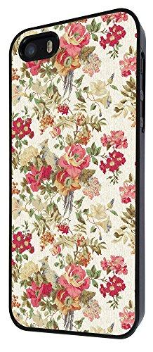 585-Shabby Chic Vintage Rose Country Flowers Coque iPhone 44S Design Fashion Trend Case Back Cover Métal et Plastique-Noir