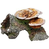 Nobby madera cueva con setas Acuario Adornos, 18x 19x 10cm