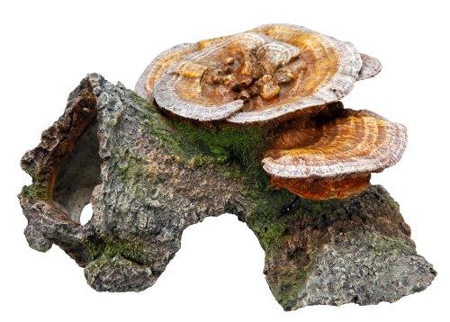 """Nobby 28274 Aqua Ornaments """"Holzhöhle mit Pilzen"""" L-18 x B-19 x H-10 cm"""
