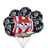 STOBOK 13 Stück Piraten Print Folie Ballon Aluminium Ballon für Kinder Geburtstagsparty Dekoration