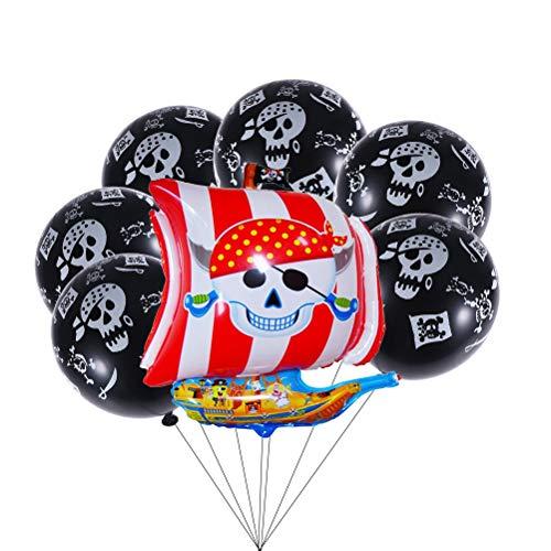 STOBOK 13 Stück Piraten Print Folie Ballon Aluminium Ballon für Kinder Geburtstagsparty Dekoration (Piraten-baby-dusche Dekorationen)
