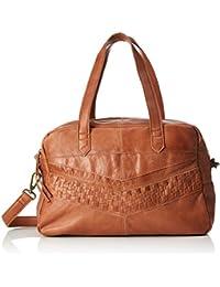 PIECES Damen Pcjimini Leather Bag Henkeltasche, 17 x 32 x 53 cm