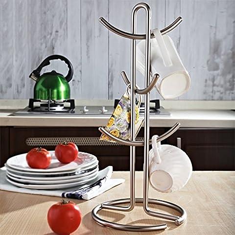 Tasse de vin Rack à suspendre Mug Tasse à Café support Diamètre du fond 17cm de hauteur 38.5cm de long 6cm Crochet, contient pas de verre de vin
