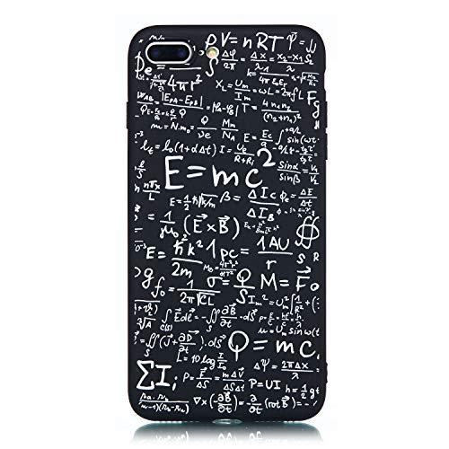1c14bf3d65c ChoosEU Compatible con Funda iPhone 7 Plus/iPhone 8 Plus Silicona Negro  Dibujos Creativa Carcasas