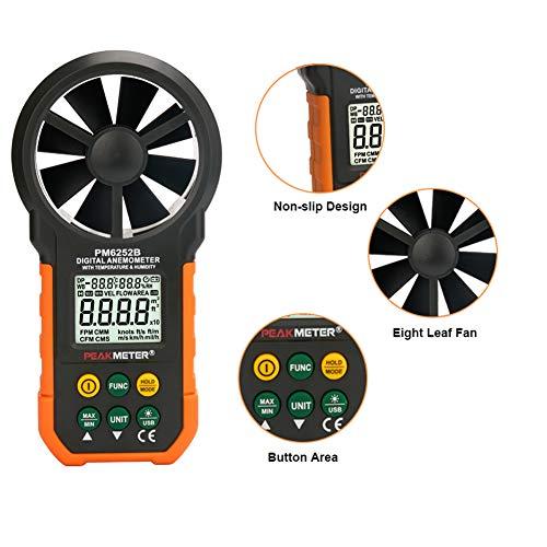 Anemómetro 0-30M S Metro De Velocidad del Viento/Digital -10~45C Temperatura Tester...