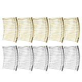Gazechimp 10er Set Haarschmuck Haarkamm Haarkämme Einsteckkamm Steckkamm Haarklammer Silber/Gold - gemischt