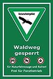 Schild - Naturschutzgebiet - Waldweg gesperrt – 30x20cm mit Bohrlöchern   stabile 3mm starke Aluminiumverbundplatte – S00359-038-E +++ in 20 Varianten erhältlich