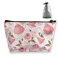 Vintage Style Tea Cups Cosmetic Makeup Bag/Pouch/Clutch Travel Case Organizer Storage Bag for Women¡¯s Accessories Toiletry Beauty,Skincare Travel Accessory