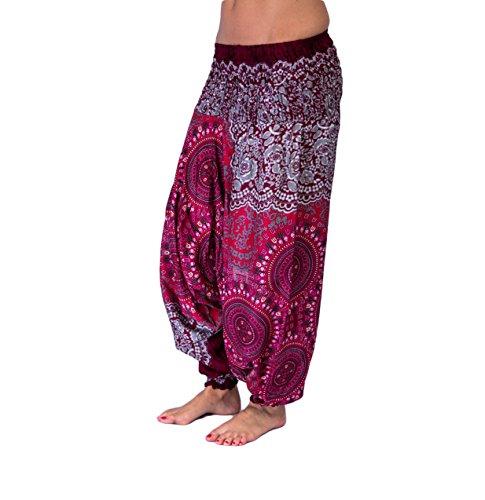 mienloco aladi–Pantaloni harem Pantaloni 100% rayon A16