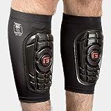 G-Form Men's Pro-S Compact Shin Guards for Football Shin Pads, Kickboxing, Hockey Providing High Impact Protection and Enhance Flexibility - Black