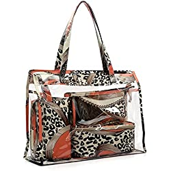 XUHAHAHZB Bolsa De Cosméticos/Bolsa De Maquillaje/Bolsa De Playa/Viaje, Estampado Leopardo