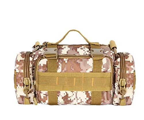 Baymate Unisex Militär Tasche Hoch Kapazität Outdoor Sportarten Taktisch Tasche Groß Tasche Wüste Stil