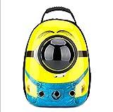 Portable Pet Carrier Space Capsule Rucksack Bubble Traveller Knapsack Mehrere Belüftungsöffnungen Wasserdichtes Leichtgewicht Geeignet für Katzen und Hunde unter 6,5 kg,Yellow