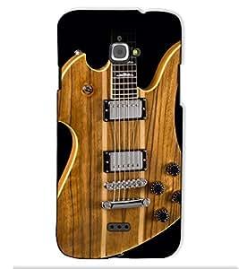 Fuson Designer Back Case Cover for InFocus M350 (The Guitar theme)