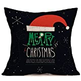 Lucky Mall Frohe Weihnachten Leinen Kissenbezüge Sofa Kissenbezug Home Dekoration