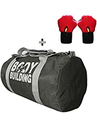 5 O' CLOCK SPORTS Gym Bag Combo Set Enclosed With Body Building Polyster Duffle Gym Bag For Men And Women For... - B079Y3T2DV