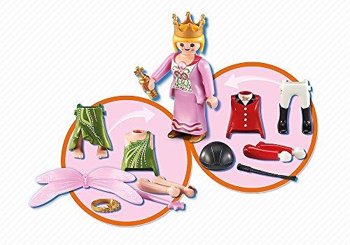 Playmobil 6528. Multi set Niña. Incluye 1 Figura Playmobil intercambiable, Princesa, Hada o Amazona.