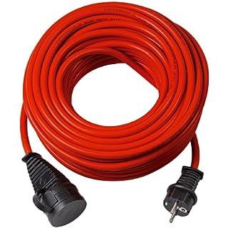 Brennenstuhl Bremaxx Verlängerungskabel (50 m Kabel, für kurzfristigen Einsatz im Außenbereich IP44) rot