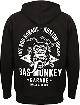 Gas Monkey Garage Hoodie Torch & Hammer Zip Black