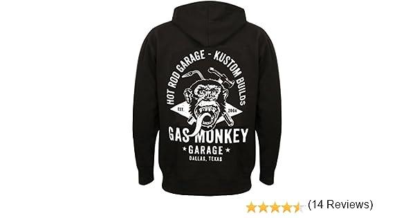 GAZ monkey garage Hoodie Pull Veste Torch /& Hammer Zip Black