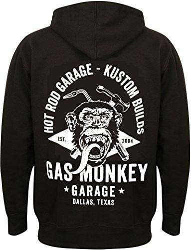 Gas Monkey Garage Hoodie Torch & Hammer Zip Black-XXL
