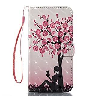 Schutzhülle für iPhone 7 Plus, hochwertiges transparentes Design, PU-Leder TPU, stoßfest, Kartenfächer, Magnetverschluss, Standfunktion, Klappetui, für iPhone 7 Plus color 1