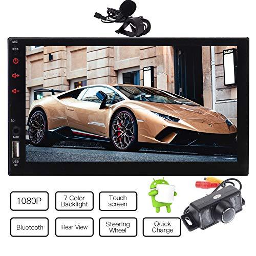 EINCAR Double 2 Din Android Quad-Core-Autoradio in der Schlag-1080P Radio GPS Navigation Unterstützung AM FM RDS 3G 4G WiFi Bluetooth Mirrorlink SWC USB SD Wireless Remote externes Mikrofon mit R Chef-auto-subwoofer