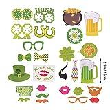 Amosfun Vingt - Neuf Photos avec des Objets Originaux et intéressants, des Feuilles Vertes, des Photos irlandaises, des Photos de Saint - Patrick, des Objets de fête, des Cadeaux de fête.
