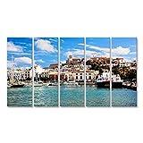 Bild auf Leinwand Panorama der Altstadt von Ibiza -