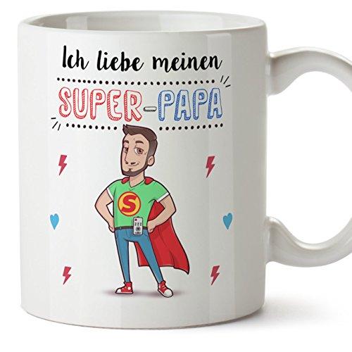 e/Becher/Mug - Super Papa - Kaffeetasse als Vatertagsgeschenk. Keramik 350 ml ()