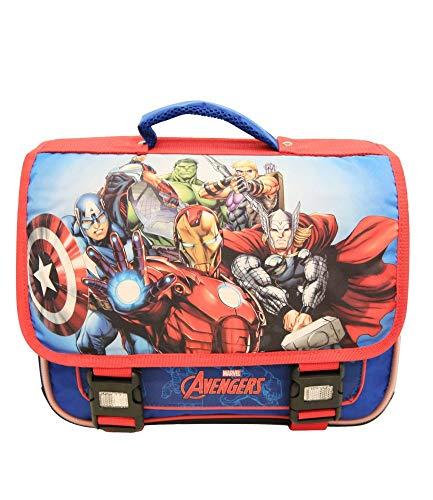 Cartable bleu et rouge Avengers Marvel