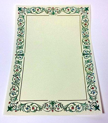 N° 5 pergamena a4 stampabile diploma carta decorata avorio cartoncino marmor 1