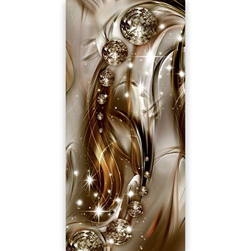 murando - Türtapete selbstklebend 90x210 cm Vliesleinwand Fototapete Tapete Türpanel Türposter Türaufkleber Türsticker Tür Dekoration Foto Bild Design Abstrakt Diamant Glanz braun gold a-A-0291-a-c
