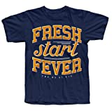 You Me At Six Official T Shirt Mens Blue FRESH START FEVER