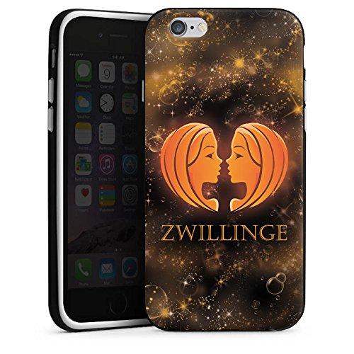 Apple iPhone X Silikon Hülle Case Schutzhülle Sternzeichen Zwillinge Esoterik Silikon Case schwarz / weiß