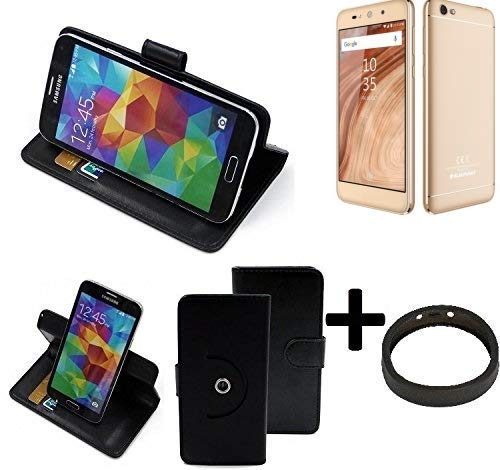 K-S-Trade® Hülle Schutzhülle Case Für -Blaupunkt SL02- + Bumper Handyhülle Flipcase Smartphone Cover Handy Schutz Tasche Walletcase Schwarz (1x)