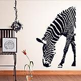 YU-K Stickers muraux Les muraux Animaux Piscine Salon Zebra Noir et Blanc des Murs Décorés d'affiches Papier Peint Mural